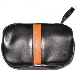 "Imitation Leather pouch for 2 pipes, tobacco and accessories ""Brown Line"""