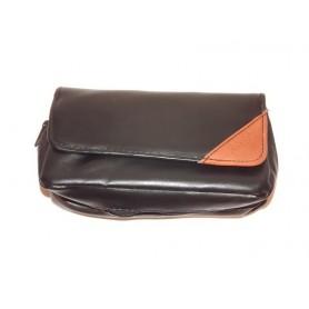 Bolsa en imitación piel para 1 pipa, tabaco y accessorios - Brown Triangle