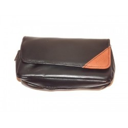 "Imitation Leather pouch for 1 pipe, tobacco and accessories ""Brown Triangle"""