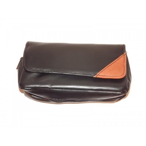 """Imitation Leather pouch for 1 pipe, tobacco and accessories """"Brown Triangle"""""""