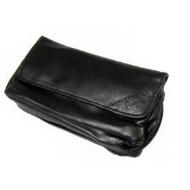 Bolsa en imitación piel para 1 pipa, tabaco y accessorios - Black