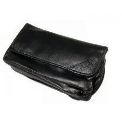 "Imitation Leather pouch for 1 pipe, tobacco and accessories ""Black"""