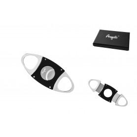 Cigar cutter Chrome/Black, 2 Blades