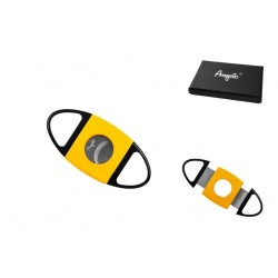 Cigar cutter Black/Yellow, 2 Blades