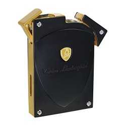 Tonino Lamborghini LYNX Torch Flame Lighter - Black & Gold