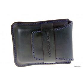 Etui Stortignaccolo en cuir cousu à la main pour 4 Scorciato - Bleu