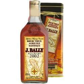 Rum Vieux Agricole Millésime 2002 J.Bally Martinica 70 cl - Astucciato