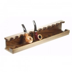 Walnut pipe stand for 12 pipes