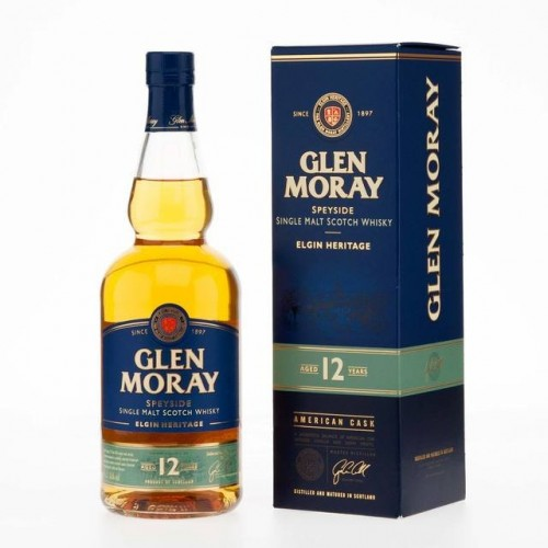 Glen Moray 12 YO Single Malt Whisky - 40% - 70cl - Astucciato