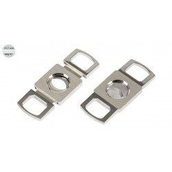"2 blades cutter ""Barley"" chrome - ring 62 - Silver"