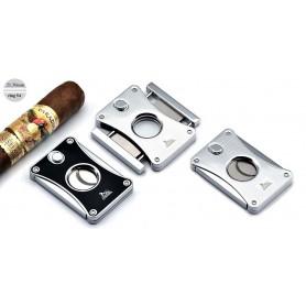 "Cigar cutter 2 blades ""Lubinski Wide"" silver plate - Ring 54"