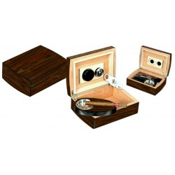 "Set regalo Humidor ""Round"" 40 sigari in noce - Posacenere - Tagliasigari"