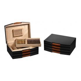 Cave à cigares pour 100 cigares de bois noir - Boveda