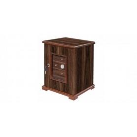 Gabinete de madera de nogal cigarro 5 cajones