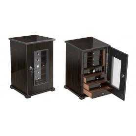 Gabinete de madera de ebano con 7 cajones
