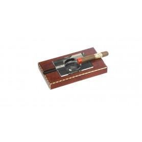 Lubinski - Posacenere per sigaro in Canforo con bordi marquetery e cristallo