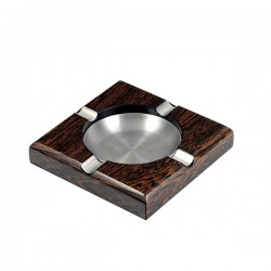 Square pipe / cigar ashtray - ironwood
