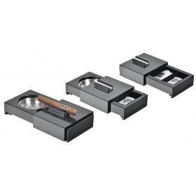 Posacenere per sigaro scorrevole con porta oggetti - fibra di carbonio