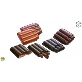 Porte-cigares en cuir pour 3 Toscano