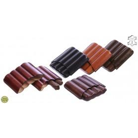 Porte-cigares en cuir pour 4 Toscano