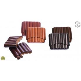 Porte-cigares en cuir pour 5 Toscano