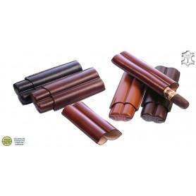 Porte-cigares en cuir pour 2 sigari Toscano long
