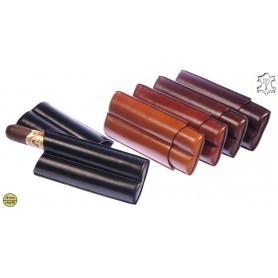 Porta cigarros de cuero para 2 Double Toro cigarros
