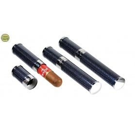 Porte-cigare en titane bleu pour 1 cigare