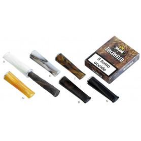 """Tuyau """"Long"""" pour cigare Toscano - de méthacrylate en méthacrylate avec protection anti-incendie en aluminium"""