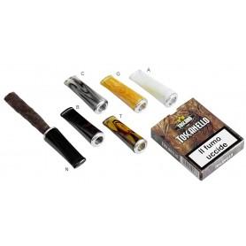"""Tuyau """"Short"""" pour cigare Toscano - de méthacrylate en méthacrylate avec protection anti-incendie en aluminium"""