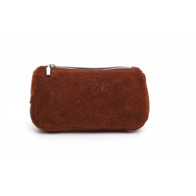 Bolso Savinelli en ante marrón para 2 pipas y accessorios