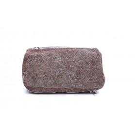 Bolso Savinelli en ante marrón claro para 2 pipas y accessorios