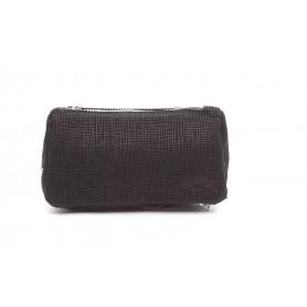 Bolso Savinelli en piel negra para 2 pipas y accessorios