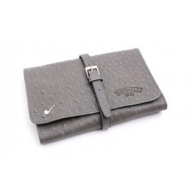 Bolsa en piel para 4 pipas y accessorios - Gris