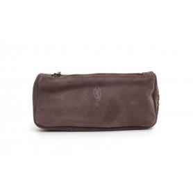 Bolsa Savinelli en cuero grafito para 1 pipa y accessorios