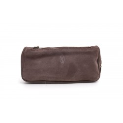 Savinelli pouch graphite leather for 1 pipe, tobacco and accessories