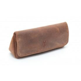Bolsa Savinelli en cuero cognac para 1 pipa y accessorios