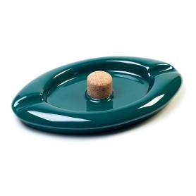 """Posacenere Savinelli """"Aurora"""" in ceramica con battipipe - Verde"""