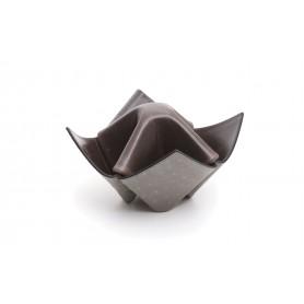 """Soporte para pipas y objetos Savinelli """"Origami"""" en cuero - verde y gris oscuro"""