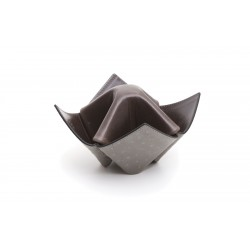 """Pipes and items holder Savinelli """"Origami"""" in leather - Dark Gree & Grey"""
