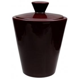 Vaso porta tabacco Savinello in ceramica - Bordeaux