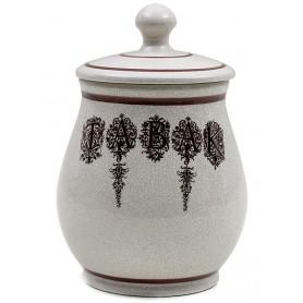 """Vaso porta tabacco Savinello in ceramica Vintage """"TabaK"""""""
