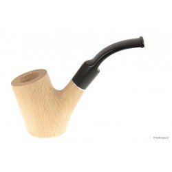 Beech Pipe - Bent Poker - 9mm filter