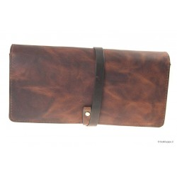 Vintage Leather pouch for 2 pipes and accessories