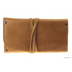 Leather tobacco pouch and accessories