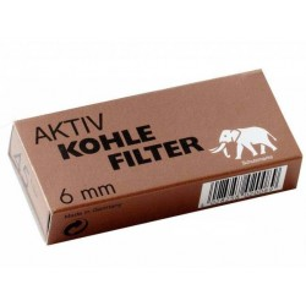 White Elephant filtros 6mm Carbón activo (45 filtros)
