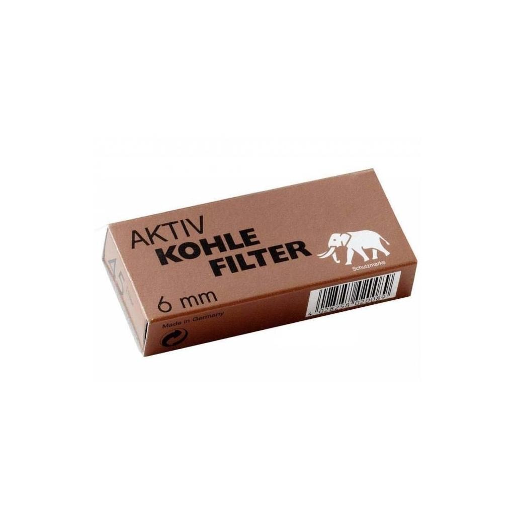 White Elephant 45 filtres 6mm en actif charbon