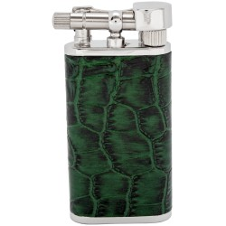 """Tsubota Pearl """"Stanley"""" pipe lighter - Green leather"""
