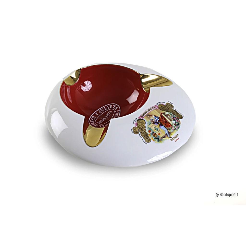 Posacenere da tavolo Romeo Y Julieta in ceramica - Round