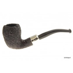 Pipa Ashton Pebble Grain XX con a/m in argento - Bent Pear